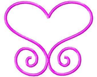 Heart Machine Embroidery / Heart Embroidery Design / Heart Pattern