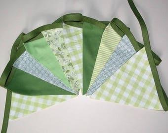 Fabric Garland - lime green and khaki