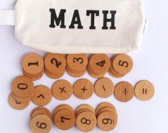 Wood Math Set Educational Game / Math Set / Montessori Math / Kindergarten Math / Preschool Math / Homeschool Math / Math Activities/ math