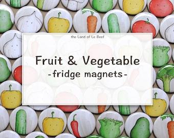 Fruit & Vegetable Fridge Magnets