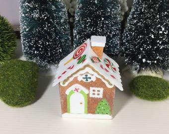 Gingerbread House Christmas Putz House Village Ornament #2