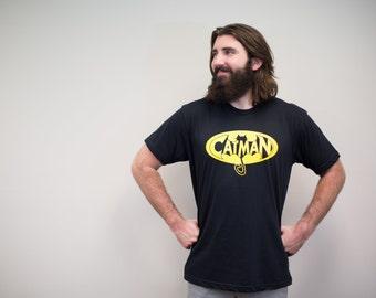 Cat shirt, super hero, Mens T-Shirt, funny tshirts, catman cat man cat dad gift mens tshirt graphic t shirt for men, cat lover gift