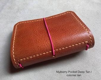 MULBERRY SINGLE Traveller's Journal range. Midori, Field Notes, Moleskine, Rhodia. Passport/Pocket/A6/A5 etc.