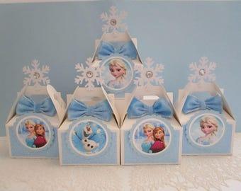 Frozen Favor Boxes, Frozen Party, Frozen Party Favors, Frozen Favors, Frozen Necklaces, Disney Frozen Favor Boxes, Olaf Favor Boxes Qty 10