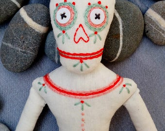 Skeleton doll, Art doll,  Halloween decor, Witchy decor, OOAK doll, Creepy cute doll, Gothic art doll, Dark art doll, Halloween doll