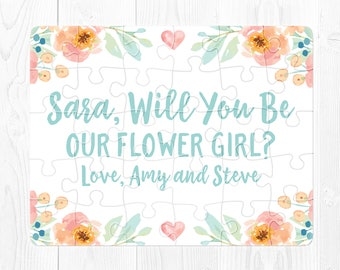 Flower Girl Proposal Gift Flower Girl Puzzle Will You Be My Flower Girl Proposal Card Flower Girl Puzzle Proposal Ask Flower Girl Peach Cute