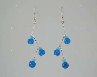 Blue Molecule earrings