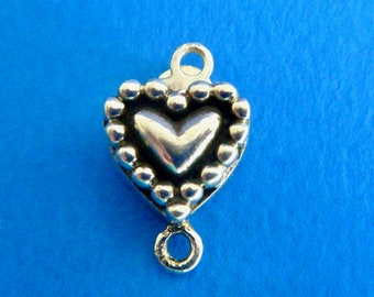 """1 Heart Box Clasp Sterling Silver 925 1/2""""  New"""