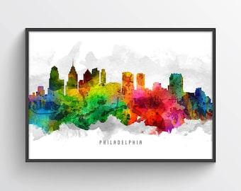 Philadelphia Skyline Poster, Philadelphia Cityscape, Philadelphia Decor, Philadelphia Art, Home Decor, Gift Idea, USPAPH12P