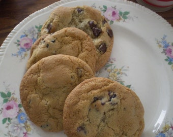 Chocolate chip cookies  1- 1/2 dozen gluten free dessert table cookie tray snack sweets lunch box treat homemade