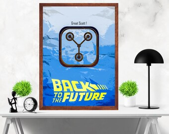 Back to The Future Minimalist Alternative Movie Print Poster