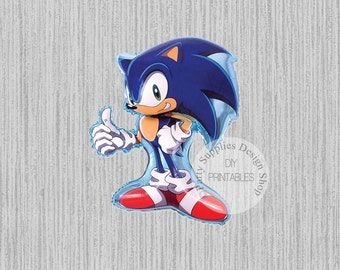 FAST SHIP Sega Sonic the Hedgehog Super Shape Balloons, Sega Birthday Balloons, Hedgehog Mylar Balloons, Sonic the Hedgehog Party Balloons