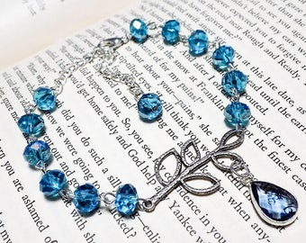 Blue and Silver Crystal Bracelet