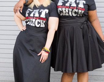 Plus Size Clothing Fat Chick Tshirt