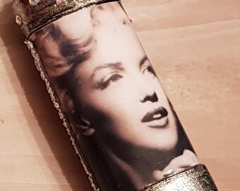 Marilyn Monroe Bic Rhinestone Glam lighter Cover