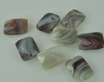 8 Faceted Botswanian Agate 18 mm beads