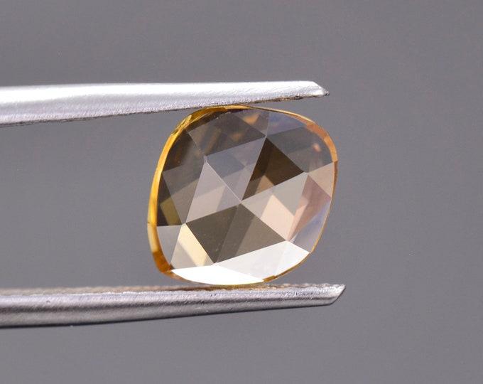 Brilliant Golden Yellow Zircon Gemstone from Tanzania, 2.16 cts., 9.0 x 7.5 mm., Rose Cut.