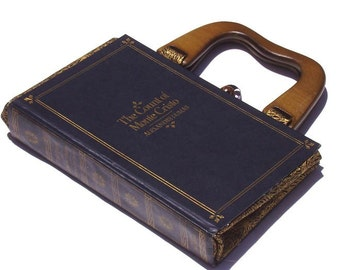 The Count of Monte Cristo- Book Handbag- Black and Gold