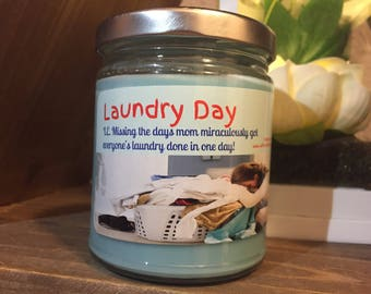 Laundry day 8oz soy candle
