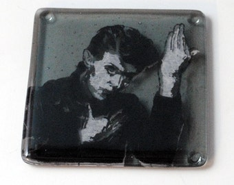 David Bowie - Heroes -  Fused Glass Coaster