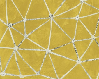 Story by Carrie Bloomston for Such Designs and Windham Fabrics - Constellation - Mustard - 1/2 Yard Cotton Quilt Fabric 516
