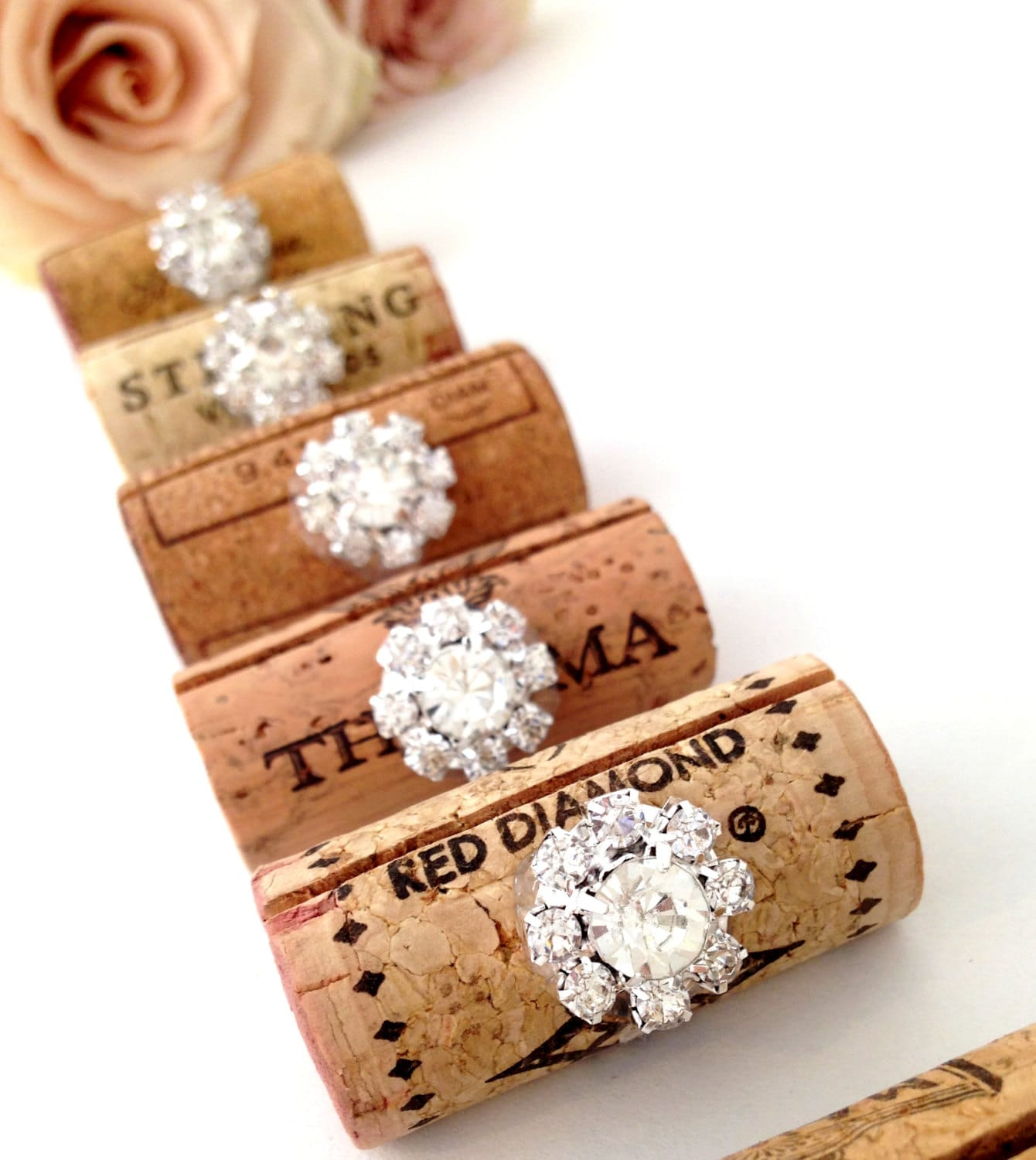 Wine Cork Wedding: Wine Cork Place Card Holder Wedding Place Card Holders Bling