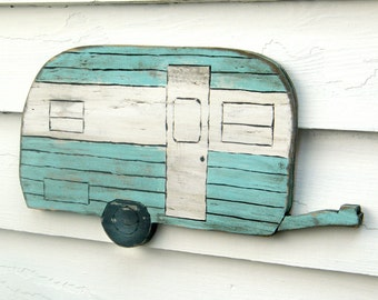 Happy Camper Sign Camping Trailer Sign Wanderlust Camp Sign Travel Trailer Wooden Wall Decor
