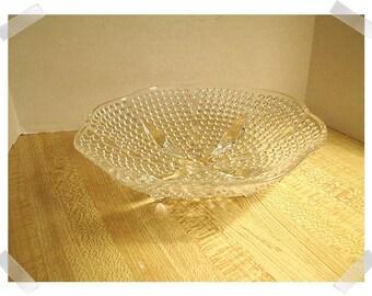 Clear Glass Dish w/4 Glass Feet/Home Decor/ Supplies*