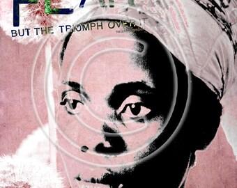 African female.....Fear2..... A4 digital collage sheet