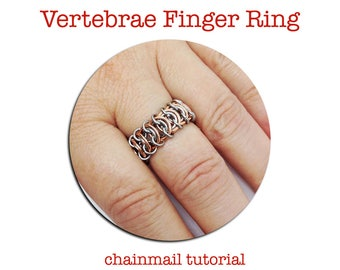Chain Ring Tutorial - DIY Chainmail - Chainmail Tutorial - Easy Chainmail - PDF Tutorial - Chainmail How To - Finger Ring Kit - DIY Ring