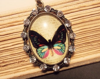 Butterfly Cameo Pendant