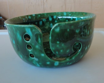 Ceramic Yarn Bowl #001 Hand Panted O O A K Mother's Day Gift