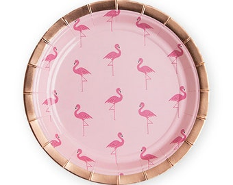Rose Gold Flamingo Plates/ Tropical Party Plates/ Flamingo Party Plates/ Flamingo Party/  sc 1 st  Etsy & Flamingo paper plate | Etsy