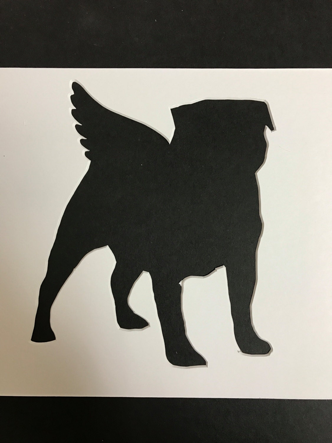 8x10 Animal Stencils With Angel Wings