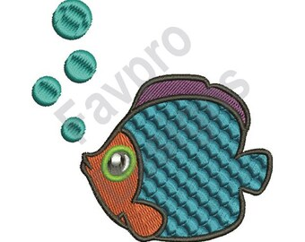 Angel Fish - Machine Embroidery Design