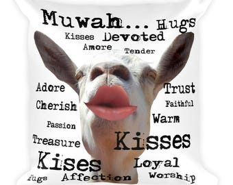 valentines day gift, ring bearer pillow, romantic pillow, hugs, kisses, anniversary gift, gift for her, gift for husband, gift for wife,