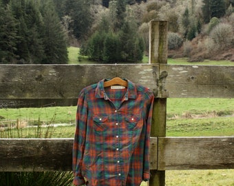 Soft red & green flannel (sz: XS)