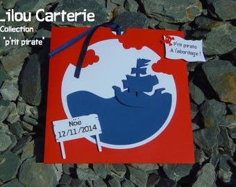 Pirate theme birth announcement