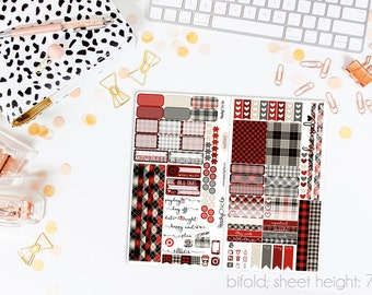 Mad for Plaid TN STANDARD Weekly Kit // 120+ Matte Planner Stickers // Perfect for your Standard Size Traveler's Notebook // TNS0060