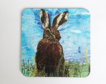 Hare coasters ~ animal coasters ~ animal gifts ~ nature coasters ~ hare gift ~ Christmas gift