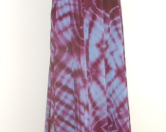 Egyptian Fusion Bellydance Perwinkle and Plum Tie Dyed 5 Yard Circle Skirt- 039