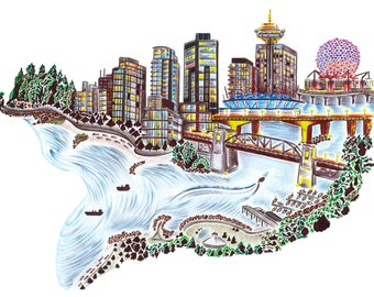 Iconic Vancouver - 5 x 7 in greeting card