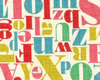Michael Miller Just My Type by Patty Young Letterpress in Mult