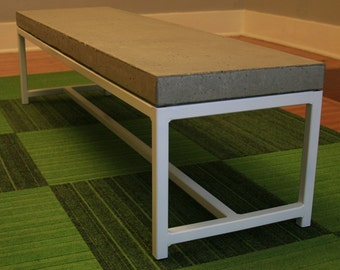 Concrete Coffee Table on a Steel Frame