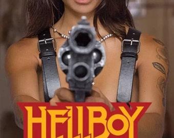 Huge Hellboy Samaritan Revolver Sideshow Size