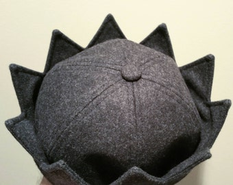 Grey Wool Jughead Crown Whoopee Cap