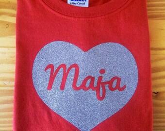 girls valentine shirt, valentines day shirt for girls, sparkly heart shirt for girls