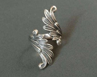 Guardian Angel wings Ring  .925 Sterling Silver -beautiful