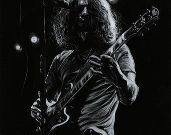 Chris Cornell Tribute 11 by 14 Art Print