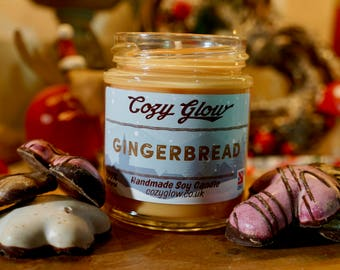 Gingerbread Christmas Soy Candle 6.8 ounce Jar